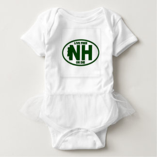 New Hampshire Live Fee or Die Baby Bodysuit