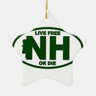 New Hampshire Live Fee or Die Ceramic Ornament