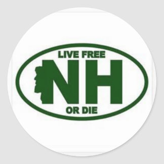 New Hampshire Live Fee or Die Classic Round Sticker