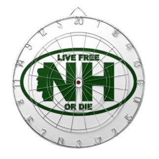 New Hampshire Live Fee or Die Dartboard