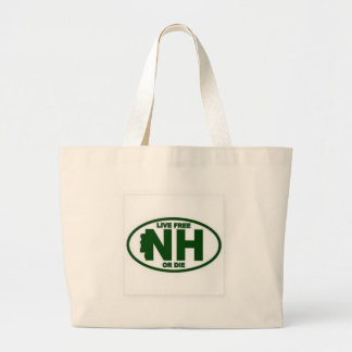 New Hampshire Live Fee or Die Large Tote Bag