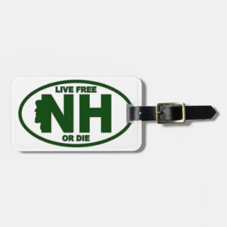 New Hampshire Live Fee or Die Luggage Tag