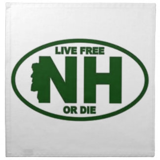New Hampshire Live Fee or Die Napkin