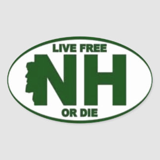New Hampshire Live Fee or Die Oval Sticker
