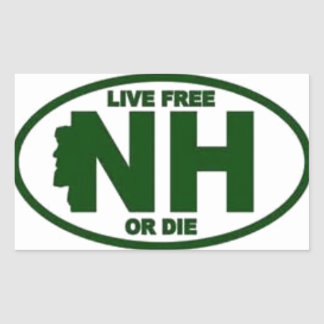 New Hampshire Live Fee or Die Rectangular Sticker