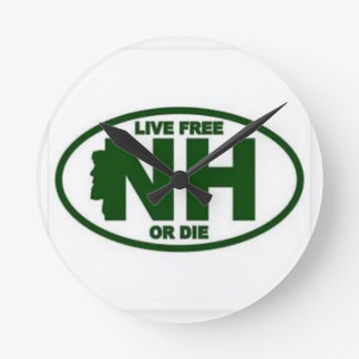 New Hampshire Live Fee or Die Round Clock