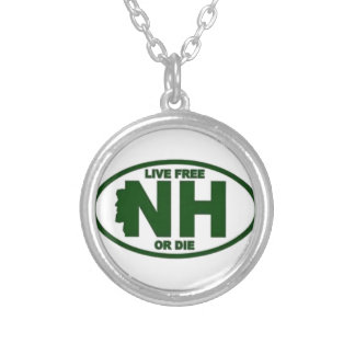 New Hampshire Live Fee or Die Silver Plated Necklace
