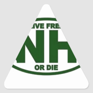 New Hampshire Live Fee or Die Triangle Sticker