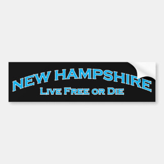 New Hampshire - Live Free or Die Bumper Sticker