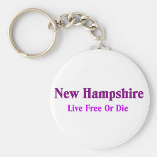 New hampshire-Live free or die Key Ring