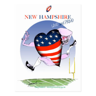 new hampshire loud and proud, tony fernandes postcard