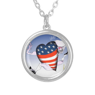 new hampshire loud and proud, tony fernandes silver plated necklace