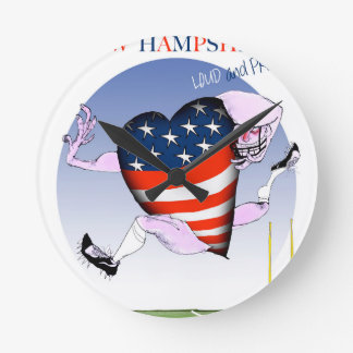 new hampshire loud and proud, tony fernandes wall clock