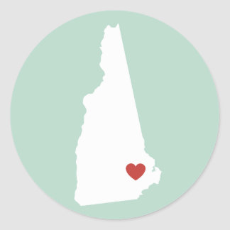 New Hampshire Love - Customizable Sticker