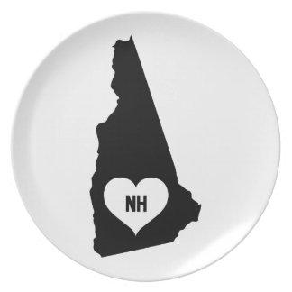 New Hampshire Love Plate