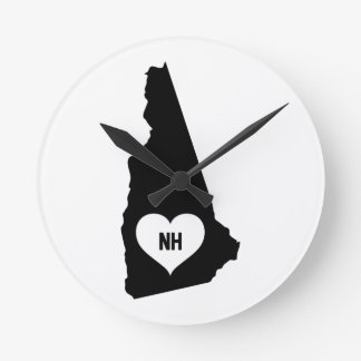 New Hampshire Love Round Clock