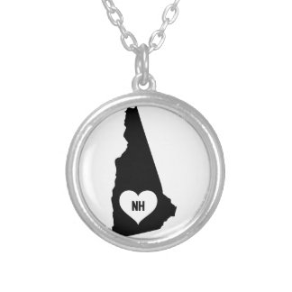 New Hampshire Love Silver Plated Necklace
