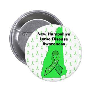New Hampshire Lyme Disease Awareness Button