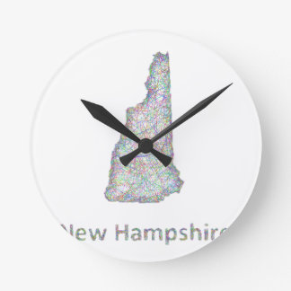 New Hampshire map Wall Clock