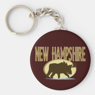 New Hampshire Moose Key Ring
