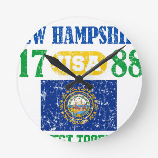 NEW HAMPSHIRE PERFECT TOGETHER DISTRESSED PRODUCTS CLOCKS