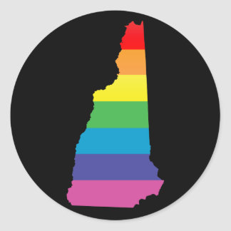new hampshire pride. classic round sticker