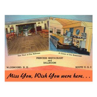 New Hampshire, Princess Restaurant, Concord Postcard