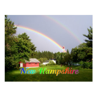 New Hampshire rainbow Postcard