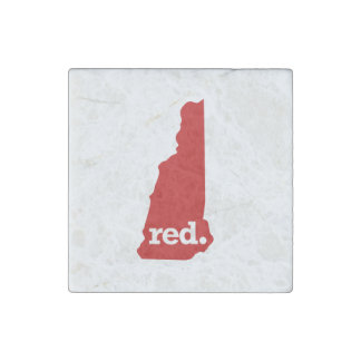 NEW HAMPSHIRE RED STATE STONE MAGNET