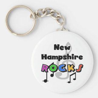 New Hampshire Rocks Basic Round Button Key Ring