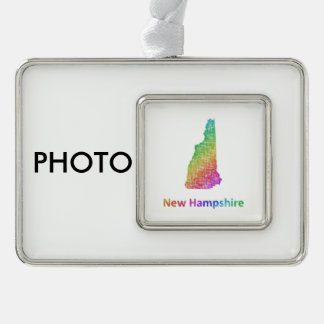 New Hampshire Silver Plated Framed Ornament
