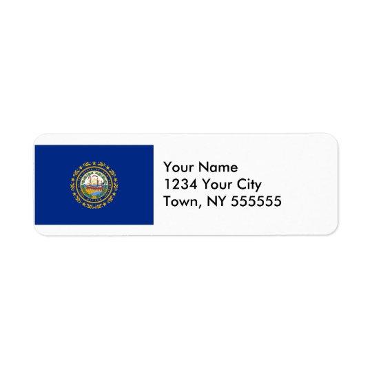 New Hampshire State Flag Return Address Label