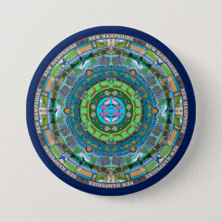 New Hampshire State Mandala Pin
