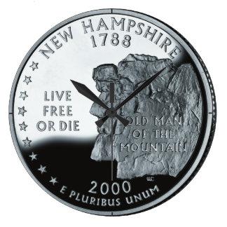 New Hampshire State Quarter Clock