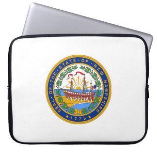 New Hampshire state seal america republic symbol f Laptop Sleeve