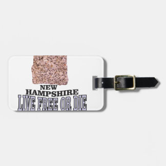 New Hampshire stone Luggage Tag