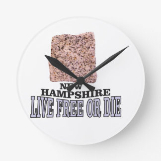 New Hampshire stone Round Clock