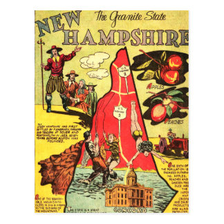 New Hampshire the Granite State Postcard