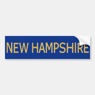 New Hampshire Vehicle Bumper Sticker