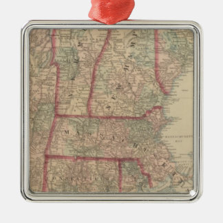 New Hampshire, Vermont, Massachusetts Metal Ornament