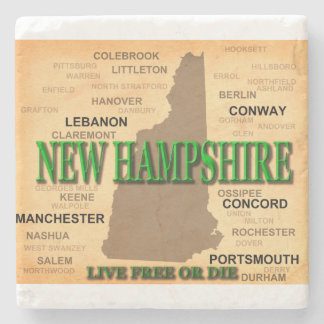 New Hampshire Vintage Map Stone Coaster