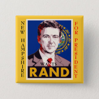 New Hampshire Wants Rand (Paul) 15 Cm Square Badge