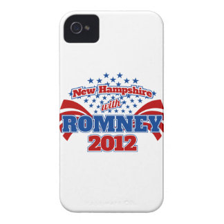 New Hampshire with Romney 2012 iPhone 4 Cover