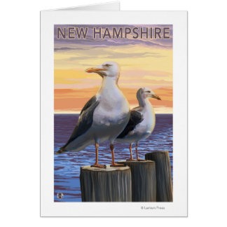 New HampshireSea Gulls Scene Card