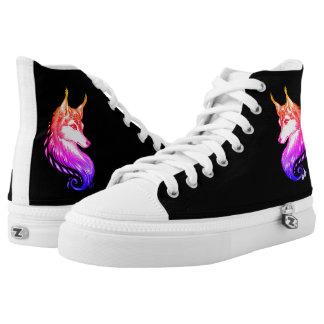 New Hand Drawn Wolf ZIPZ® Shoes