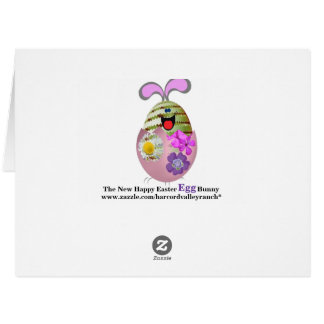 New Happy Easter Egg Bunny Big Greeting Card