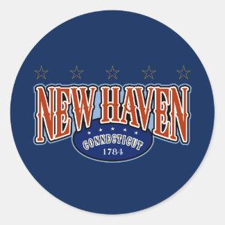 New Haven 1784 Classic Round Sticker