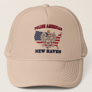 New Haven Connecticut Polish Trucker Hat