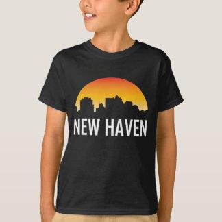 New Haven Connecticut Sunset Skyline T-Shirt