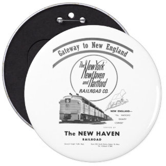 New Haven Railroad-Gateway to New England 1950 6 Cm Round Badge